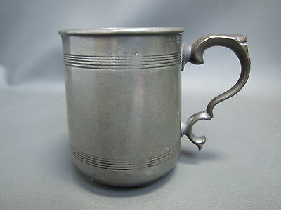 Antique pewter tankard half pint mug by Watts & Harton