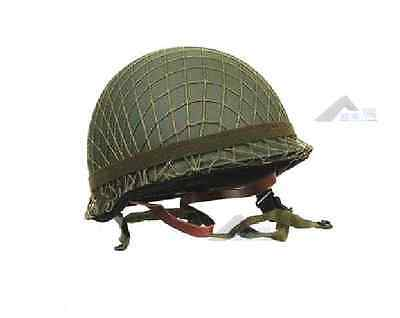 WWII US Army M1 Helmet Cover Cotton Camouflage Net- US107