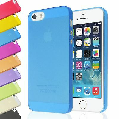 Ultra Thin 0.5Mm Transparent Slim Clear Back Case Plastic Cover For Iphone 5 5S