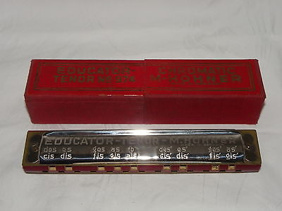 HOHNER MUNDHARMONIKA D.R.G.M. EDUCATOR TENOR No.974 in ORIGINAL BOX  #2