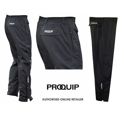 2018 ProQuip Aquastorm Black Waterproof Mens Golf Trousers S-M-L-XL-XXL-XXXL New