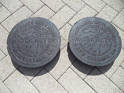 2 New Orleans ORIGINAL French Quarter NOLA Cast Iron Water Meter Box Cover NCIS
