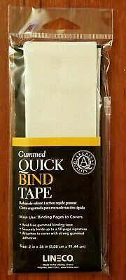 """Lineco Book Quick Bind Tape 2"""" X36""""  Bind up to 50 Pages, Gummed  (bin504-A)"""