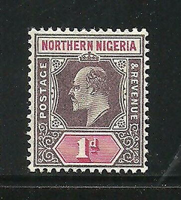 Album Treasures Northern Nigeria Scott # 20a  1p Edward VII Mint Hinged