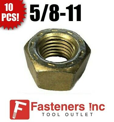 """Hex Finished Nuts Grade 8 Yellow Zinc UNC Qty-1000 5//8/""""-11"""