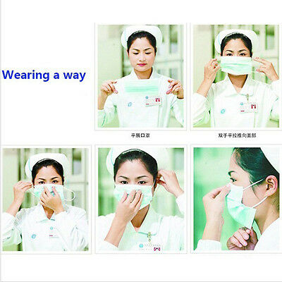 10or50pcs 3 Color Disposable Mask for Breathing safety Prevent Germs Masks