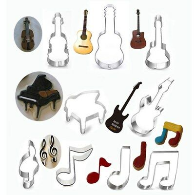 Durable Stainless Steel Mold Key Guitar Notes Cookie Cutter Biscuit Baking Mold
