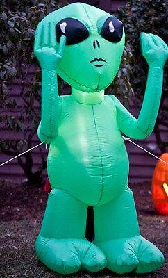 Halloween Green Alien Airblown Inflatable Lawn Decoration Yard Patio Party Prop