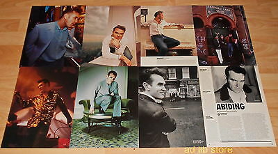 """MORRISSEY - LOT OF 7  PICTURES + ALBUM REVIEW, 11.8"""" x 8.5"""" UK CUTTINGS LOT"""