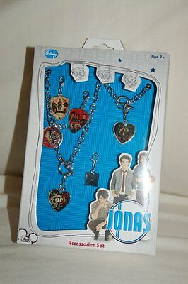 Disney Jonas Brothers Accessories Set charm necklace bracelet rock royalty band