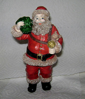 """Vintage 1960's Hand Painted Ceramic Bisque """"Chubby Santa"""" Very Near Mint F/S"""