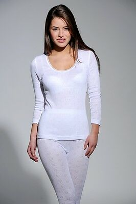 New Womens Ladies Winter Spencer Long Sleeve Thermal Vest Top Soft Warm Ski Wear