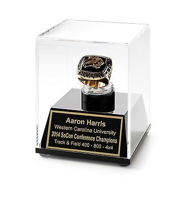 Championship Ring Display Case Acrylic Ring Box Engraved