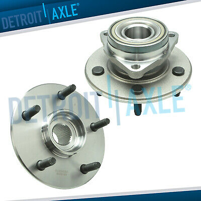 4x4 Front Wheel Bearing and Hub Pair Non-ABS for 2000 2001 Dodge Ram 1500 4WD