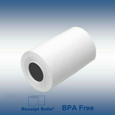 "2 1/4"" x 80' Thermal Credit Card Paper Rolls -  50 Rolls"