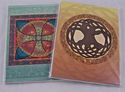Celtic Tree of Life Cross of Life Folk Soul (12) Greeting Cards Jen Delyth Wicca
