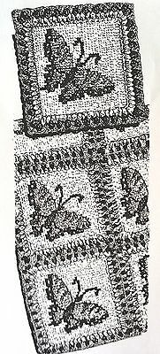 814 Vintage Design BUTTERFLY AFGHAN Pattern to Crochet (reproduction)