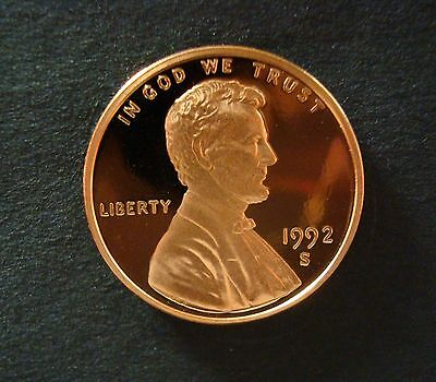1992-S Gem Proof Lincoln Cent Spot Free Ultra Cameo Save With Combined Shipping