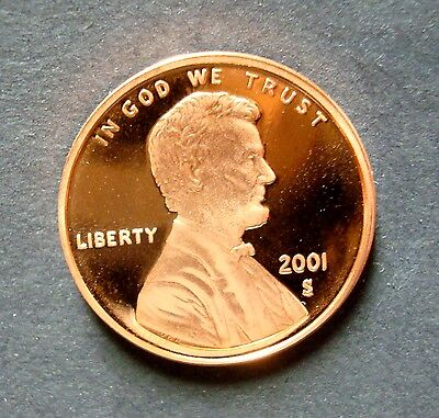 2001-S Gem Proof Lincoln Cent Flawless Ultra Cameo Gem