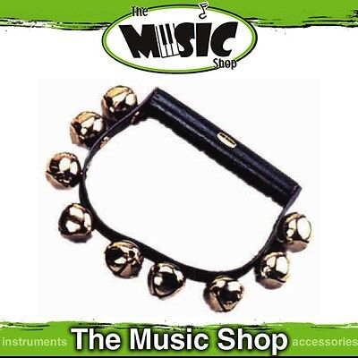 New CPK Sleigh Bells on Plastic Band with Wooden Handle - 9 Bells - ED145