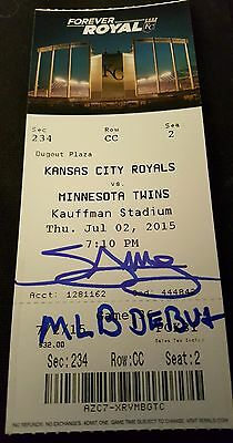 "Miguel Sano Signed ""mlb Debut"" Inscribed & 1St Hit Ticket Autographed Coa Proof"