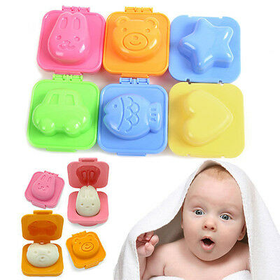 6pcs Boiled Egg Sushi Rice Mold Bento Maker Sandwich Cutter Decorating Home LO