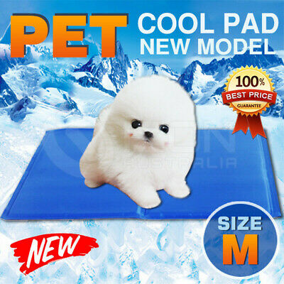 Pet Dog Cat Bed Non-Toxic Cooling Cool Water Cooling Gel Mat Summer Pad 40x30cm