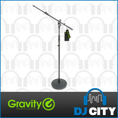 Gravity Microphone Stand With Round Base And 2-Point Adjustment Telescoping B...