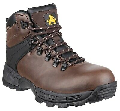 Amblers FS420 Caimen Waterproof Safety Work Boots Brown Hiker 6-12 Toe & Mid