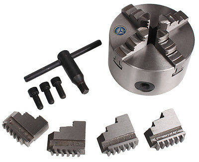 4 Jaw Self-Centering Dia. 125MM Wood Lathe Chuck For CNC Rotary Table 4th Axis