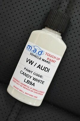 Vw Volkswagen Candy White Lb9A/b4 Paint Touch Up Kit 30Ml Scratch Chip Brush
