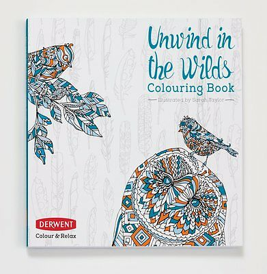 Derwent Colour and Relax: Unwind in the Wilds Adult Colouring Book | NEW