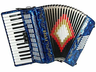Fever Piano Accordion 3 Switches 30 Keys 48 Bass, Blue, F3048-BL