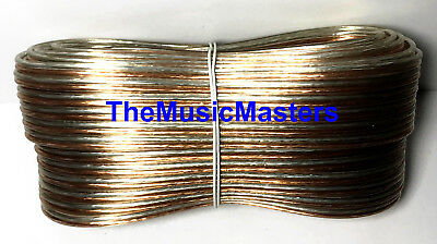 Car Audio Home Stereo SPEAKER WIRE 14 Gauge 50' ft Clear HD Quality Cable VWLTW