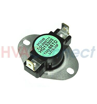 OEM ICP HEIL Tempstar Sears Furnace Limit Switch L160-20F ... Heil Model Pgf K D Wiring Diagram on