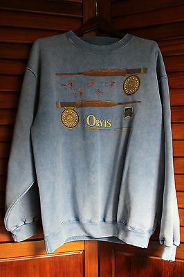 ORVIS Vintage Long Sleeve Sweat Shirt Men's Sz M made in USA