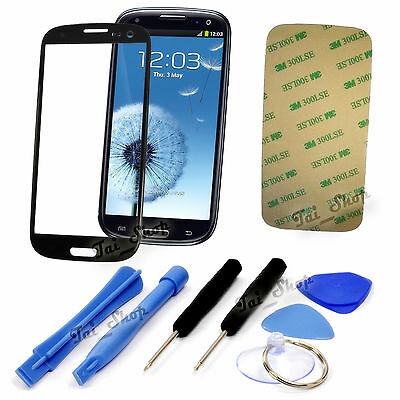 Blue Screen Glass Replacement Lens+Tool Kit For Samsung Galaxy S3 i9300 T999