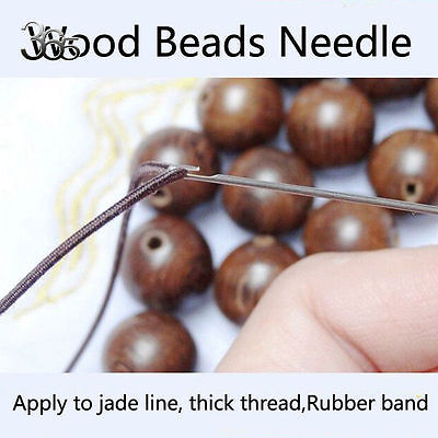 2PCS Standard Style for WOOD BEADS Easy Beading Jewelry DIY Open Eye Needles