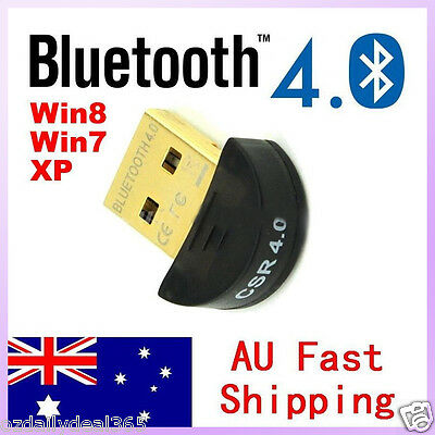 Mini USB 2.0 Bluetooth V4.0 Dongle Wireless Adapter For PC Laptop 3Mbps Speed OZ
