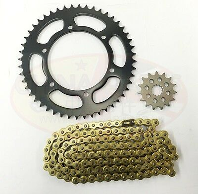 Yamaha FZS 600 Fazer 2000 Heavy Duty GOLD X-Ring Chain and Sprocket Kit