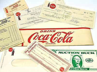 Coca-Cola Coke USA Drucksachen Coupons Schecks Briefumschläge Checks Order Sheet