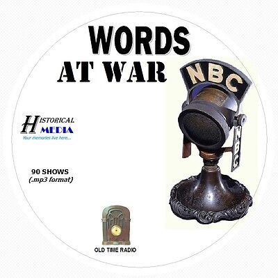 WORDS AT WAR - 90 Shows Old Time Radio In MP3 Format OTR 1 CD