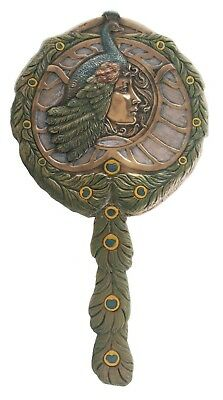 Art Nouveau Egyptian Queen Cleopatra Hand Mirror Decor Sculpture Collectible