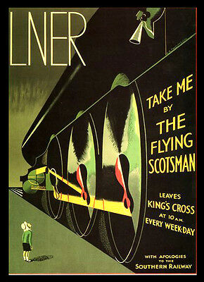 A3 Flying Scotsman LNER Railway Travel VINTAGE RETRO Posters Print Old Style #12