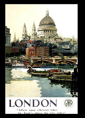 A3 - London GWR Railway 1947 Travel VINTAGE RETRO Posters Print Old Style #12