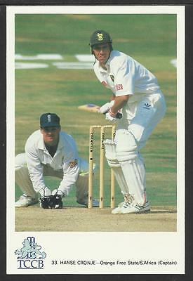 HANSE CRONJE -- SOUTH AFRICA (CAPT). OFFICIAL TCCB  POSTCARD No. 33.