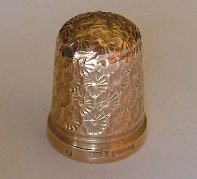 Good Quality, English 9Ct Gold Thimble, J Swann & Son, Birmingham