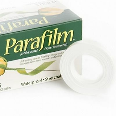 1x WHITE Parafilm Wedding Craft Florist Stem Wrap Floral Tape Waterproof 27m
