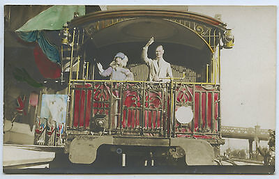 1927 RP POSTCARD DUKE & DUCHESS OF YORK AUST RV ON STATE CAR 4 in VICTORIA a11.