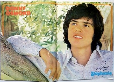 DONNY OSMOND => 2  pages 1973 vintage POSTER!!! (FREE SHIPPING ++++++++++